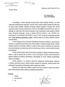 pismo odpowiedź burmistrza