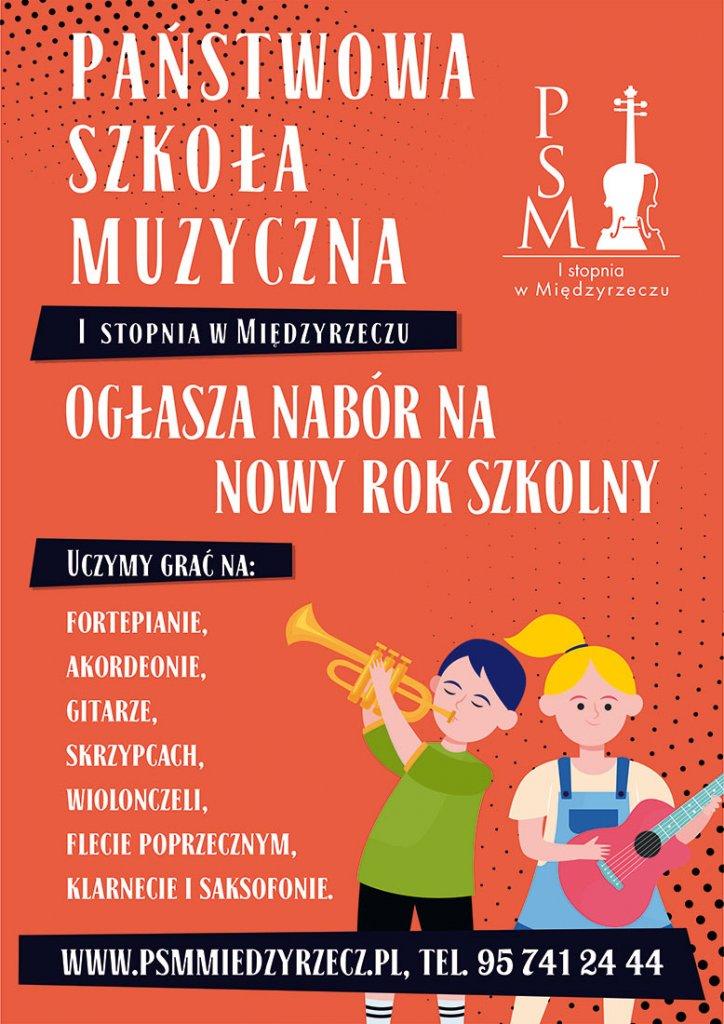 plakat szkoła muzyczna