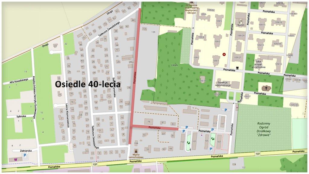 mapa ul poznańska międzyrzecz