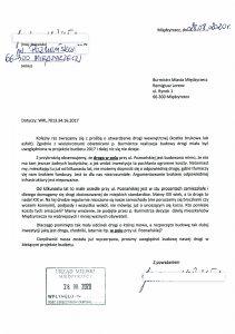 pismo do burmistrza 28 08 2020