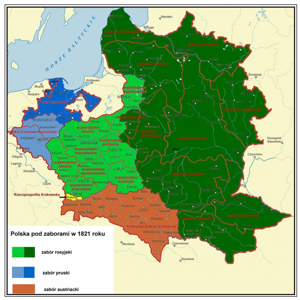 polska pod rozbiorami