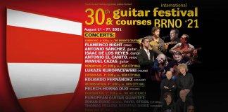 30 międzynarodowy festiwal gitarowy brno 2021 baner