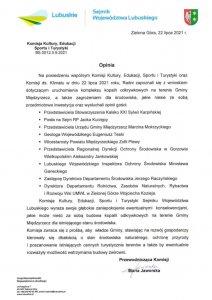 pismo komisji kultury