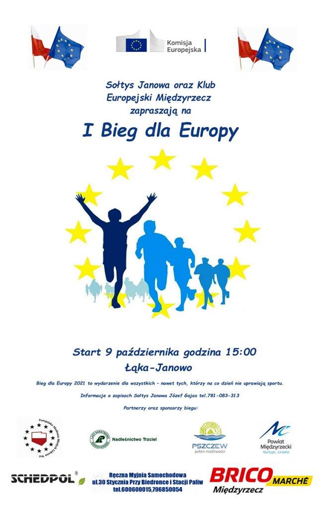 i bieg europejski janowo plakat