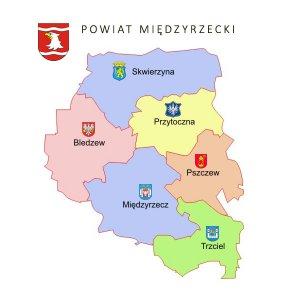 mapka powiat miĘdzyrzecki